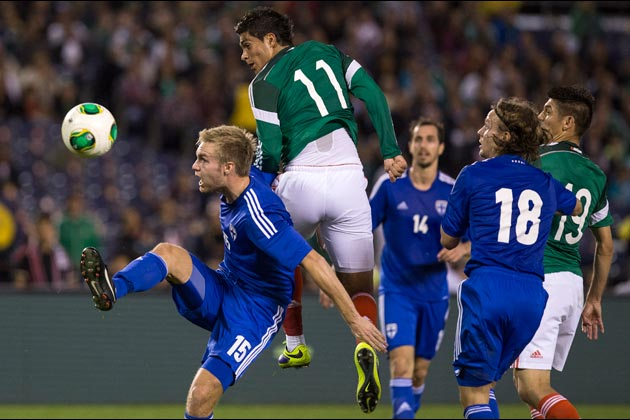 Mexico vs Finland during a friendly match at the Qualcomm stadium