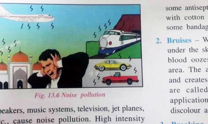 ICSE की किताब में मस्जिद को भी बताया ध्वनि प्रदूषण का जिम्मेदार, हुआ विवाद