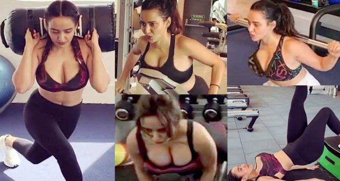 एक्ट्रेस नेहा शर्मा का Gym में पसीना बहाते हुए का विडियो सामने आया है