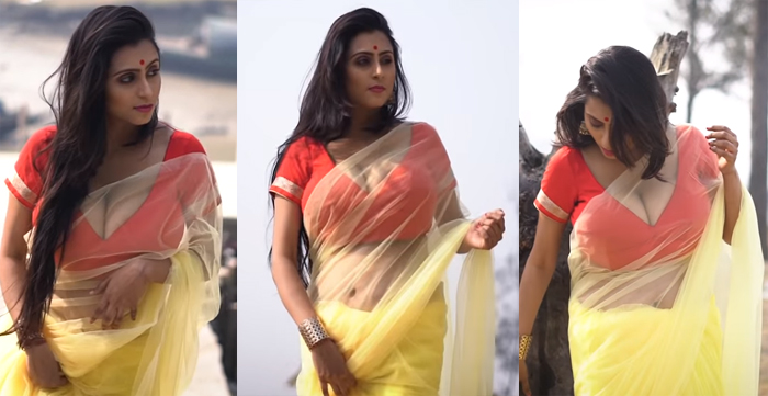 बंगाली मॉडल ने दिखाया साड़ी में कैसे दिखें ज्यादा हॉट