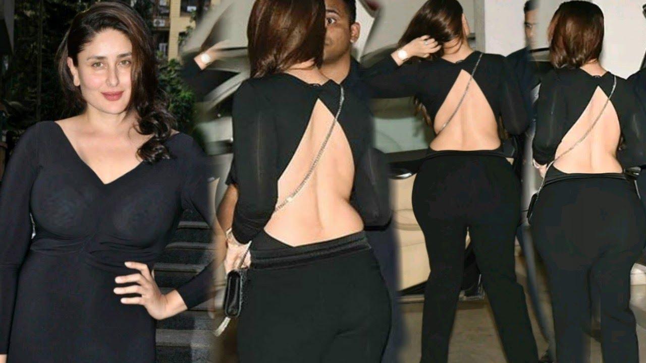 बैकलेस-ट्रांसपेरेंट ड्रेस में दिखी करीना कपूर, वायरल हो रही वीडियो