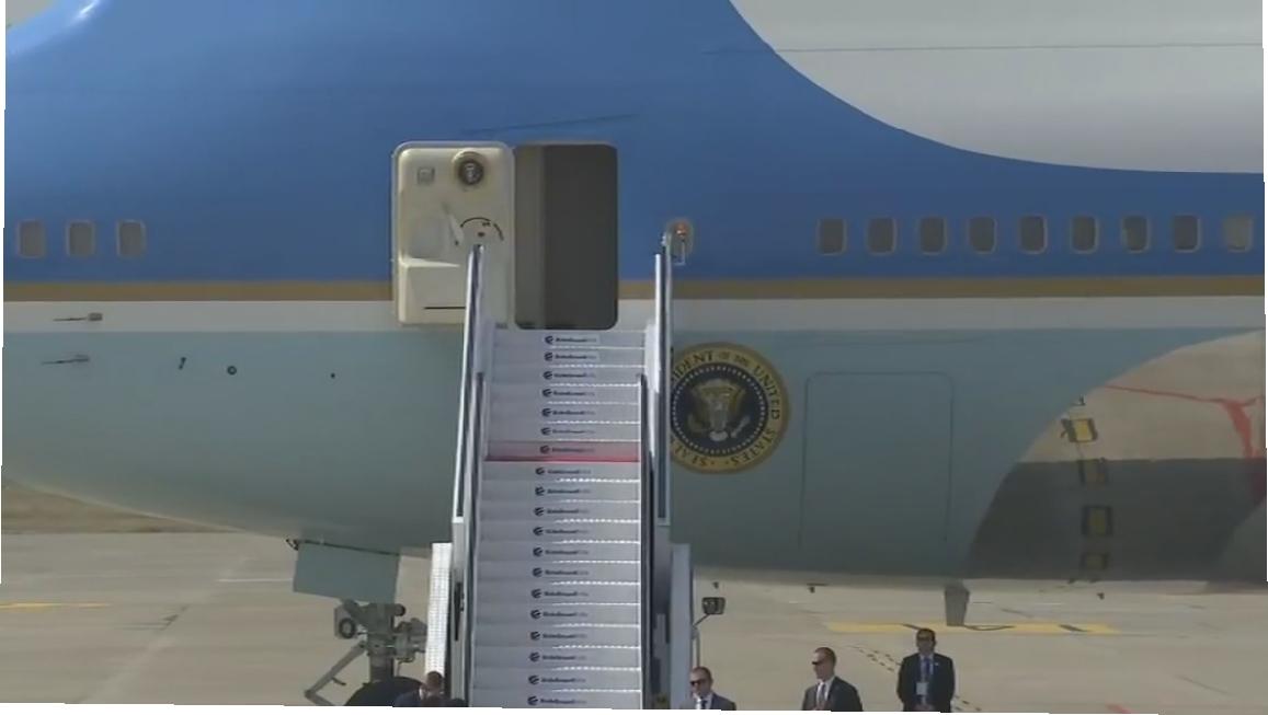 Breaking News अमेरिका के राष्ट्रपति डोनाल्ड ट्रैप का विमान अहमदाबाद पहुंचा