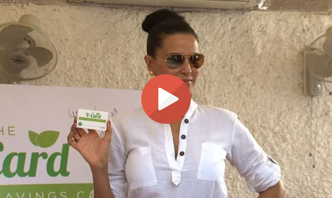 Neha Dhupia offers 10pc discount on food !